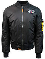 "Летная куртка Top Gun Official MA-1 ""WINGS"" bomber jacket with patches (черная)"