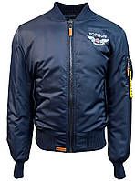 "Летная куртка Top Gun Official MA-1 ""WINGS"" bomber jacket with patches (синяя)"