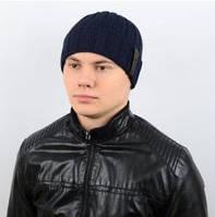 Теплая мужская шапка с подворотом, из шерсти (5 цветов), фото 1