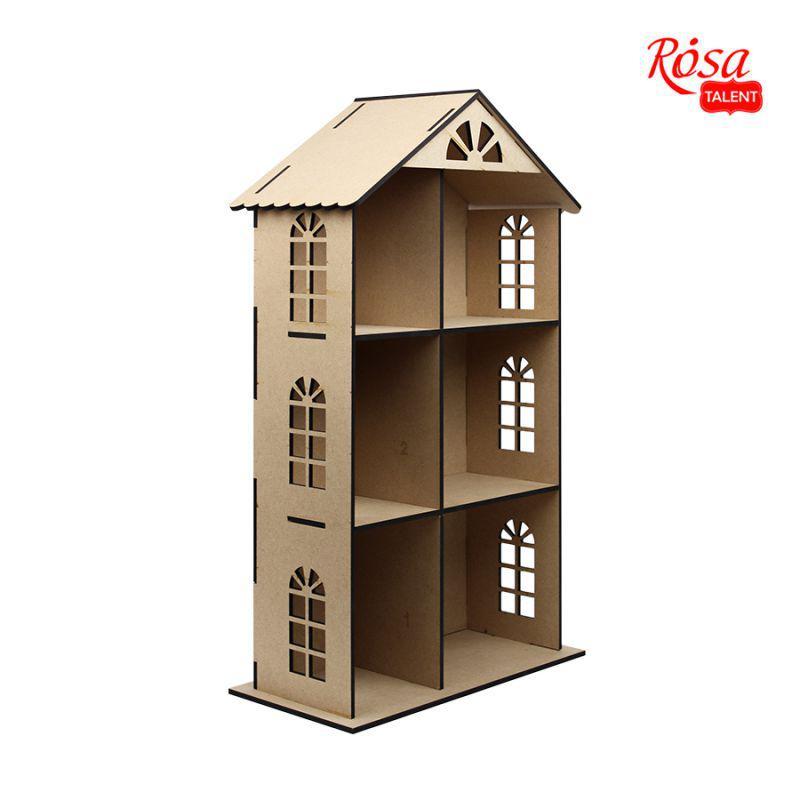 Кукольный домик трехэтажный, 70*41*20 см, МДФ, ROSA Talent, 2873002