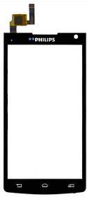 Сенсор (тачскрин) для телефона Philips S388 черный
