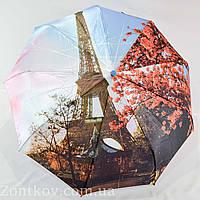 """Зонт женский полуавтомат оптом с тканью сатин и узором города от фирмы """"Sunn Rain"""""""