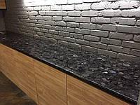 Столешница из Лабрадорита ( чёрная) для кухни, фото 1