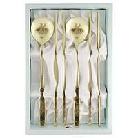 Металлические палочки для еды «Мельхиоровый набор»