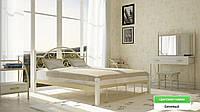 """Металлическая кровать """"Анжелика"""" на деревянных ножках, фото 1"""