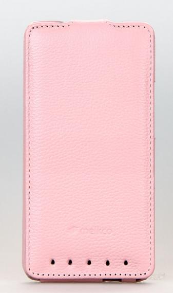 Чохол фліп Melkco Leather Case Jacka HTC One M7 Pink