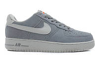 Серо-белые  кроссовки Nike Air Force Low