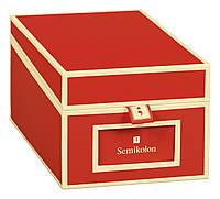 Коробка для визитных карточек Die Kante красные