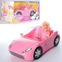 Машина Кабриолет 33 см для куклы с куклой 29 см K877-30D