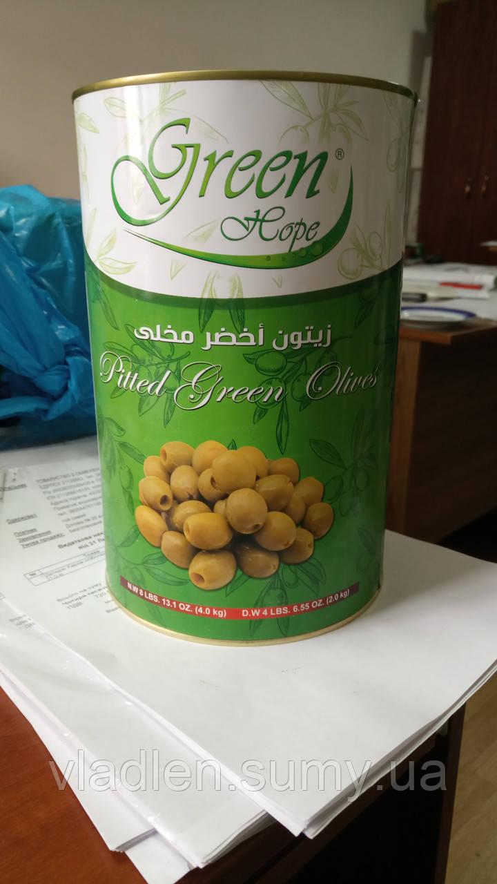 Оливки зеленые без косточки 4 кг TM Green Hope (Египет)