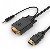 Кабель Cablexpert (A-HDMI-VGA-03-10) HDMI-VGA-3.5мм, 3м