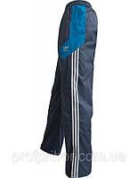 Мужские спортивные штаны Adidas из плащевки на х/б подкладке копия