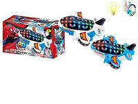 Самолетик   (арт. 1188-9) спайдермен,муз,свет,батар,коробка,20x11.5x9cm