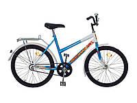 Велосипед підлітковий синій d24 Teenager 011 ТМХВЗ