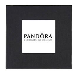 Черная подарочная картонная коробочка Pandora для наручных часов