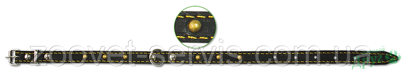 Ошейник кожаный 14 мм Classic 113 ТМ Верный друг, фото 2