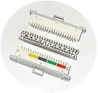 Плинт LSA-PLUS 2/10 с нормально-замкнутыми контактами, марк. 1...0, 6089 1 102-01 KRONE (Германия)