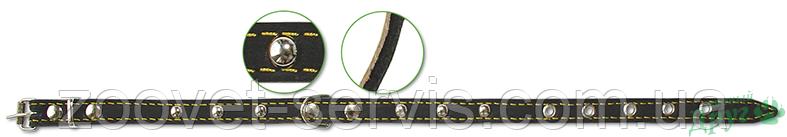 Ошейник кожаный 14 мм Classic 117 ТМ Верный друг, фото 2