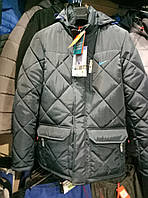 Мужская зимняя куртка Nike стеганая из плащевки копия, куртка Найк