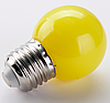 Лампочка светодиодная желтая E27 1,2Вт, G45 шар