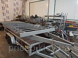 Рама для прицепа 6м х 2,2м (2,5м). Гнутый листовой метал 4мм.
