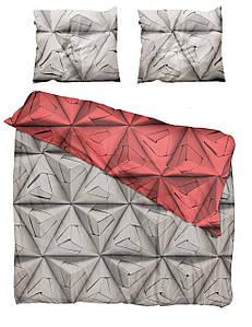 Постельное белье Monogami 200 x 200 см, красный риф и brązowoszary