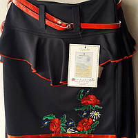 Юбка с вышивкой для девочки р-р 30-32-34-36 (9-12лет)