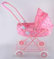 Коляска для куклы цвет розовый