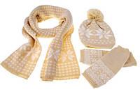 Зимняя шапка, шарф и рукавички AL7971