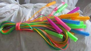 Скакалка BT-JR-0015 (2,50м, толщина 0,30см) цветная ш.к.уп./150/