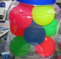Попрыгунчик 2061-5 (300шт) 6 см резиновый,20 шт в пакете 5 цветов
