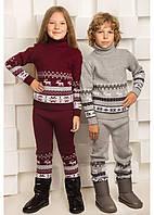 Теплые Вязанные штанишки для детей 104-122р
