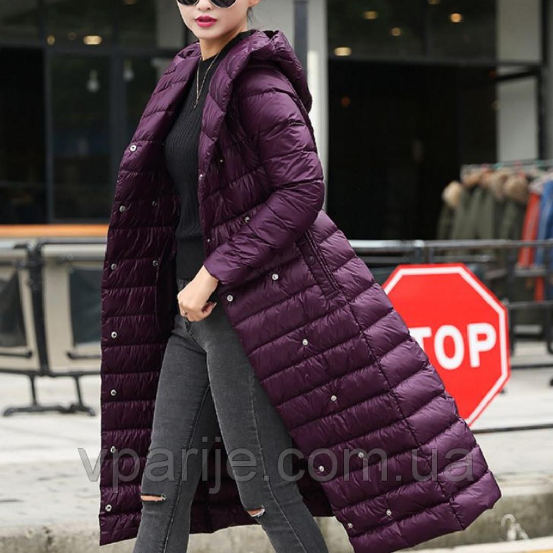 Пальто фиолетовое, 90% пуха