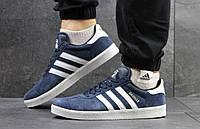 Мужские кроссовки Adidas Gazelle Темно синие