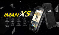 "Смартфон IMAN X5 black IP67, 1/8Gb, 5/1.3Мп, 4 ядра, 2sim, экран 5"" IPS, 3000mAh, GPS, 4G, Android, фото 1"