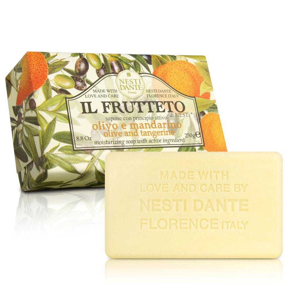 Nesti Dante Il Frutteto Мыло Оливковое Масло и Мандарин 250г Olive Oil and Tangerine