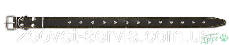 Безразмерный кожаный ошейник Classic 35 мм ТМ Верный друг 512, фото 2