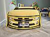 Кровать машина Камаро желтая, фото 6