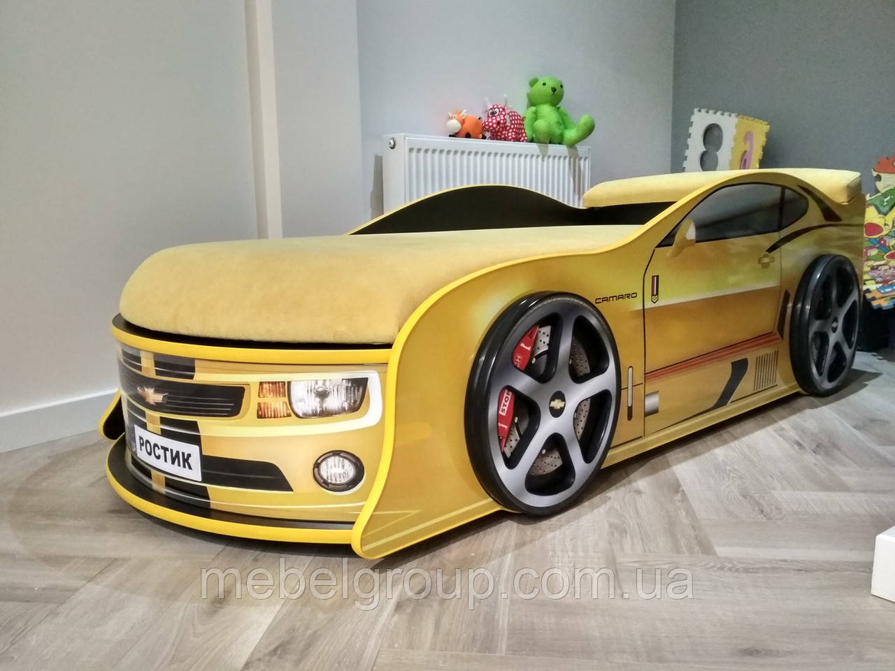 Кровать машина Камаро желтая