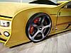 Кровать машина Камаро желтая, фото 3