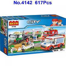 """Конструктор COGO 4142 """"City"""" 609/617дет.кор.57,2*37,5*8,4 /6/"""