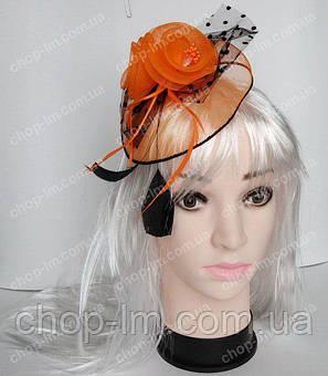 """Вуалетка """"Праздник"""" оранжевая , фото 2"""