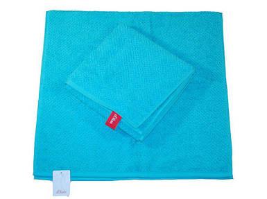 Полотенце синий 140x70 см S. Oliver гладкий