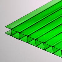 Поликарбонат сотовый 8 мм зеленый Oscar Чехия
