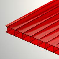 Поликарбонат сотовый 6 мм красный Oscar Чехия