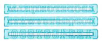 Шаблоны букв и цифр для оформления Тала