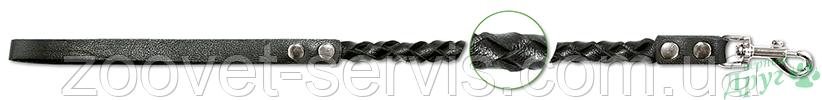 Кожаный плетеный поводок Classic ТМ Верный друг 778, фото 2