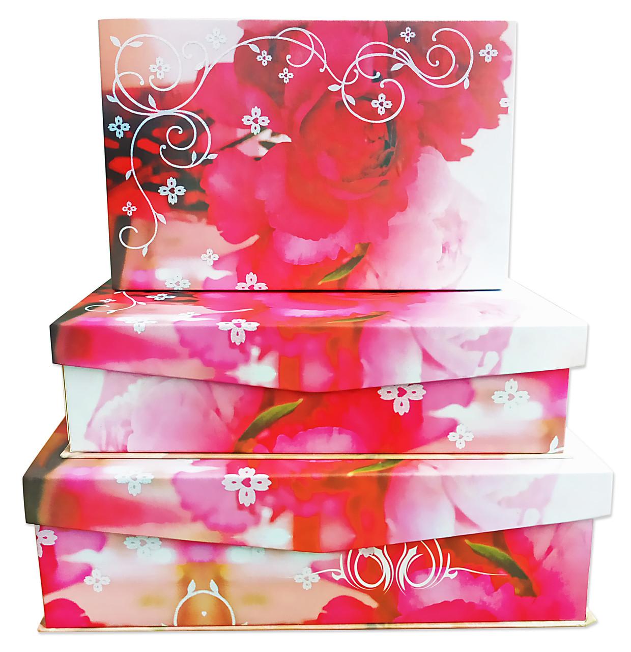 Коробки подарочные с откидной крышкой на магните, набор из 3 шт