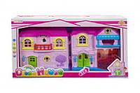 Кукольный дом 8071B с куклами,мебелью батар.муз.свет.кор.40*7*23 ш.к./48/