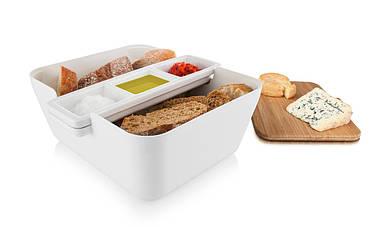 Контейнер для хлеба в комплекте для закусок Bread & Dip белый